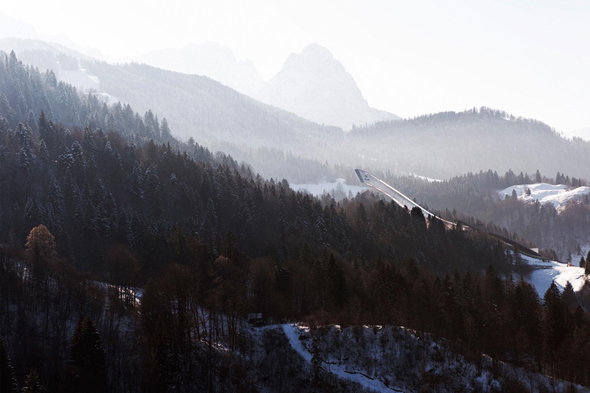 SKI JUMP mountain view