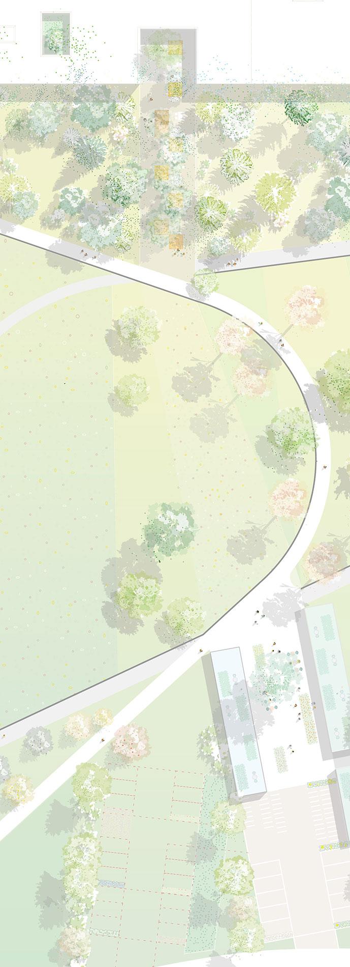 Grüne erde detail plan