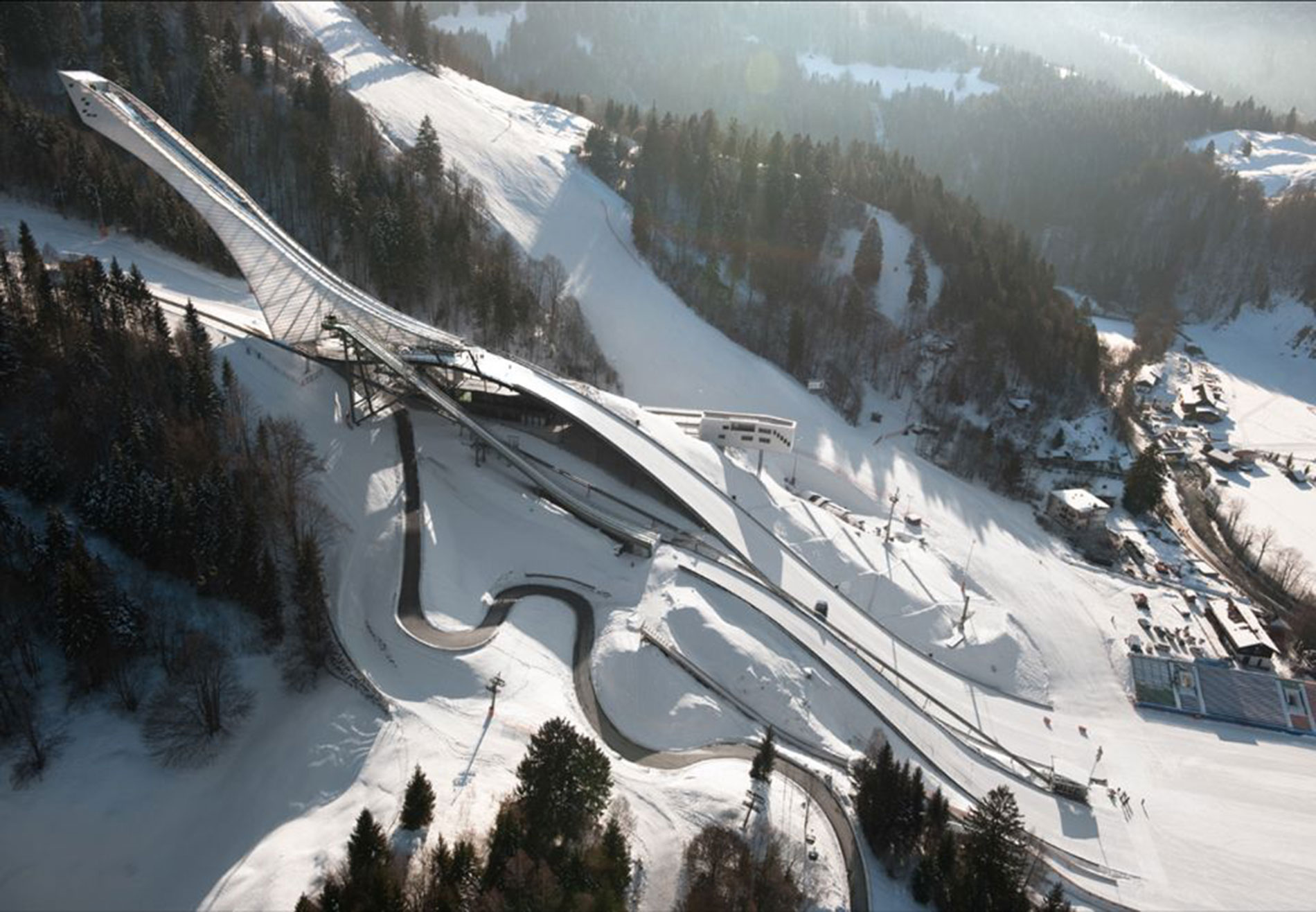 SKI JUMP mountain view