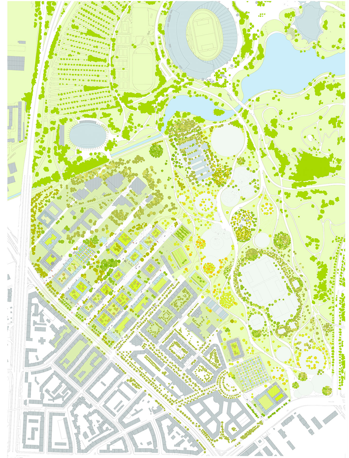 olympic village munich plan